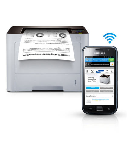 Convenient mobile printing optimised for various business environment